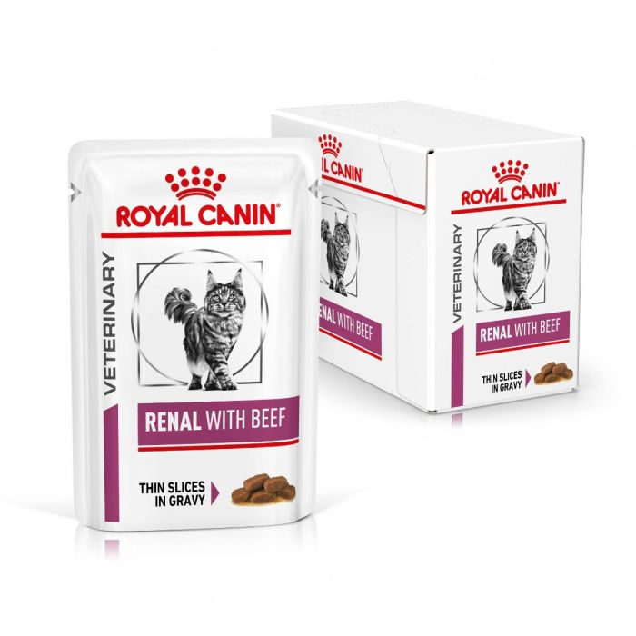 Royal Canin Renal Cat Wet Food Beef 48x85g Pouch