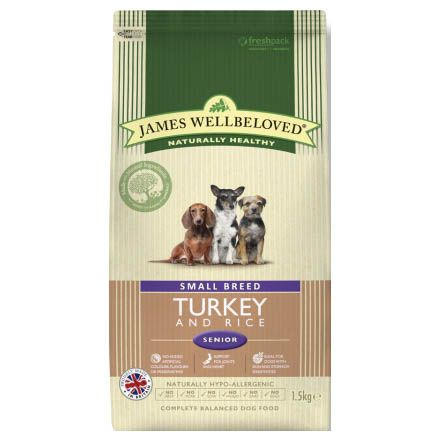James Wellbeloved Senior Small Breed Dog with Turkey & Rice Dry