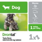 Drontal Plus Flavour Bone Shaped Worming Tablet for Dogs