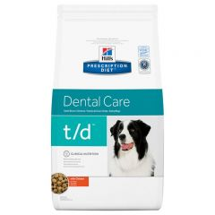 Hills Prescription Diet t/d Dental Care Dog Food Dry with Chicken