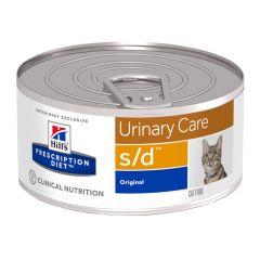 Hills Prescription Diet S/D Urinary Care Feline Wet 24x156g Can