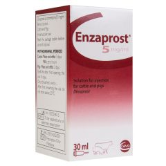 Enzaprost 5mg Solution for Injection for Cattle and Pigs - 30ml