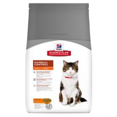 Hills Science Plan Adult Cat Hairball Control with Chicken Dry