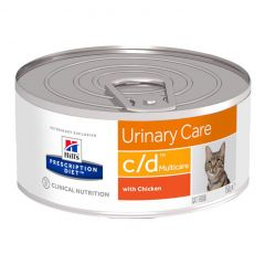 Hills Prescription Diet c/d Urinary Care - Multicare Cat Food Wet with Chicken 24x156g Can