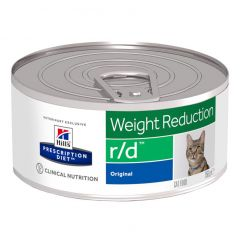 Hills Prescription Diet r/d Weight Reduction Cat Food Wet Original 24x156g Can