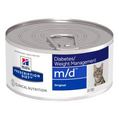 Hills Prescription Diet m/d Diabetes/Weight Management Cat Food Wet Original 24x156g Can