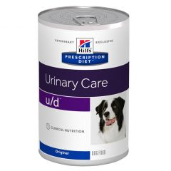 Hills Prescription Diet u/d Urinary Care Dog Food Wet Original 12x370g Can