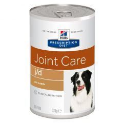 Hills Prescription Diet j/d Joint Care Dog Food Wet with Lamb 12x370g Can