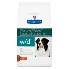 Hills Prescription Diet w/d Digestive/Weight/Diabetes Management Dog Food Dry with Chicken