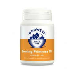 Dorwest Evening Primrose Oil Capsules for Dogs and Cats