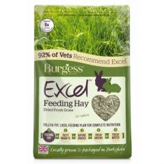 Burgess Excel Feeding Hay Dried Fresh Grass 1kg
