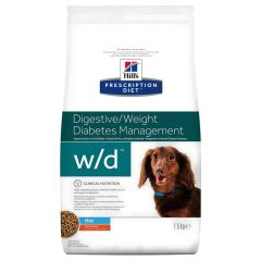 Hills Prescription Diet w/d Digestive/Weight/Diabetes Management Mini Dog Food Dry with Chicken