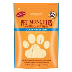 Pet Munchies Ocean White Fish Strips 100g