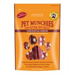 Pet Munchies Chicken and Cheese Dog Treats 100g