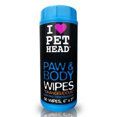 Pet Head Paw and Body Wipes - Pack of 50
