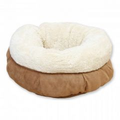 All For Paws Donut Cat Bed - Tan