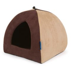 Ancol Timberwolf Faux Suede Pyramid Pet Bed