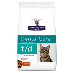 Hills Prescription Diet t/d Dental Care Cat Food Dry with Chicken