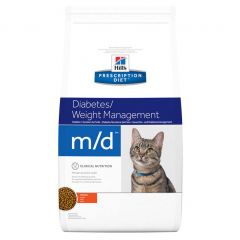 Hills Prescription Diet m/d Diabetes/Weight Management Cat Food Dry with Chicken