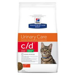 Hills Prescription Diet c/d Urinary Care - Urinary Stress Reduced Calorie Cat Food Dry