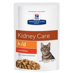 Hills Prescription Diet k/d Kidney Care Cat Food Wet 12x85g Pouch