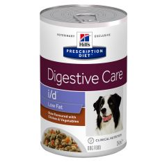 Hills Prescription Diet i/d Digestive Care Low Fat Chicken Stew Dog Food 12x354g Can