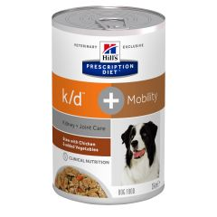 Hills Prescription Diet k/d + Mobility Stew with Chicken & added Vegetables Dog Food 12x354g Can