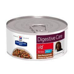 Hills Prescription Diet i/d Digestive Care Stress Mini Chicken Stew Dog Food 24x156g Cans