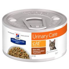 Hills Prescription Diet c/d Multicare Stew with Chicken & added Vegetables Cat Food 24x82g Can