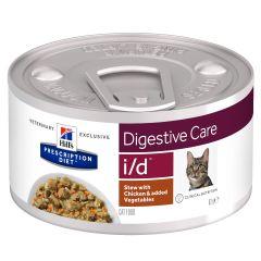 Hills Prescription Diet i/d Digestive Care Chicken Stew Cat Food 24x82g Can
