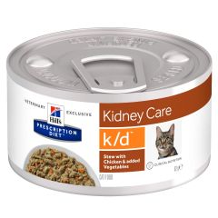 Hills Prescription Diet Kidney Care k/d Chicken & Vegetables Cat Food Stew 24x82g Can