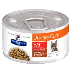 Hills Prescription Diet c/d Urinary Care - Urinary Stress Chicken Stew Cat Food 24x82g Can