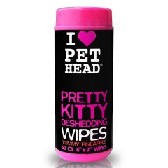Pet Head Deshedding Pretty Kitty Wipes - Pack of 50