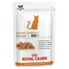 Royal Canin Vet Care Nutrition Senior Consult Stage 1 Cat Wet 48x100g Pouches