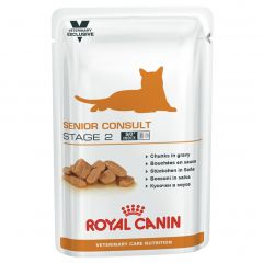 Royal Canin Vet Care Nutrition Senior Consult Stage 2 Cat Wet 48x100g Pouches