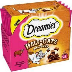 Dreamies Deli Catz Cat Treats with Beef 5x5g