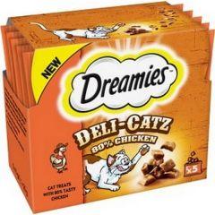 Dreamies Deli Catz Cat Treats with Chicken 5x5g