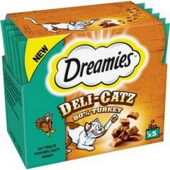 Dreamies Deli Catz Cat Treats with Turkey 5x5g