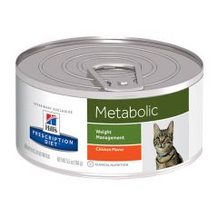Hills Prescription Diet Metabolic - Weight Management Cat Food Wet with Chicken 24x156g Can