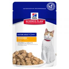 Hills Science Plan Mature Adult 7+ Cat Active Longevity with Chicken Wet 12x85g Pouch