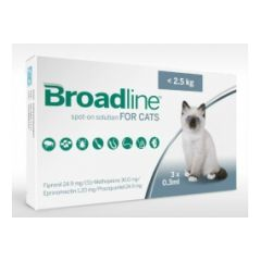 Broadline Spot-on for Small Cats - 3 Pipettes