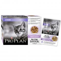 Purina Pro Plan Junior Cat Nutri Savour with Turkey in Gravy 10x85g Pouches