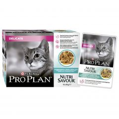 Purina Pro Plan Delicate Cat Nutri Savour with Ocean Fish in Gravy 10x85g Pouches