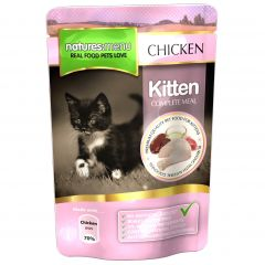 Natures Menu Chicken Meal for Kittens 12x100g Pouches