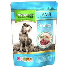 Natures Menu Lamb with Chicken Senior Dog Food 8x300g Pouches