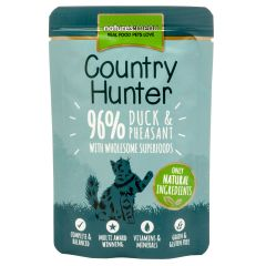 Natures Menu Country Hunter Duck & Pheasant Cat Food 6x85g Pouches