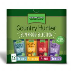 Natures Menu Country Hunter Dog Superfood Selection 12x150g Pouches
