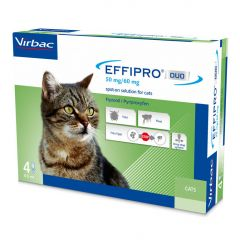 Effipro Duo Spot On Flea Treatment For Cats - Pack of 4