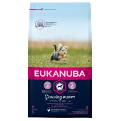 Eukanuba Growing Puppy Toy Breed with Chicken Dry 2kg