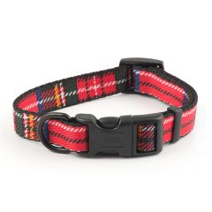 Ancol Nylon Adjustable Tartan Dog Collar